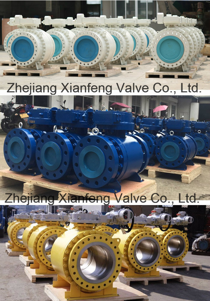 Large Diameter Trunnion Mounted Gear Operation Ball Valve