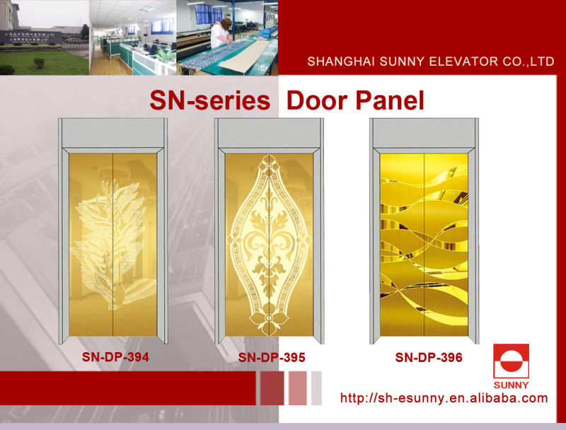 Elevator Door Panel with Maple Leaf Pattern (SN-DP-313)