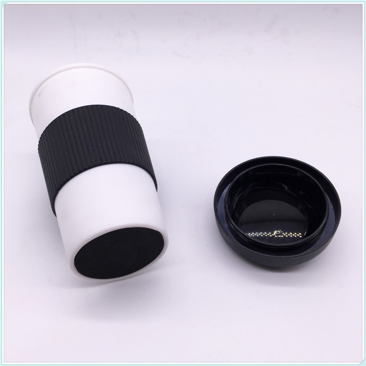 2016 New Product Light Weight Rice Husk Plastic Coffee Mug with Lid