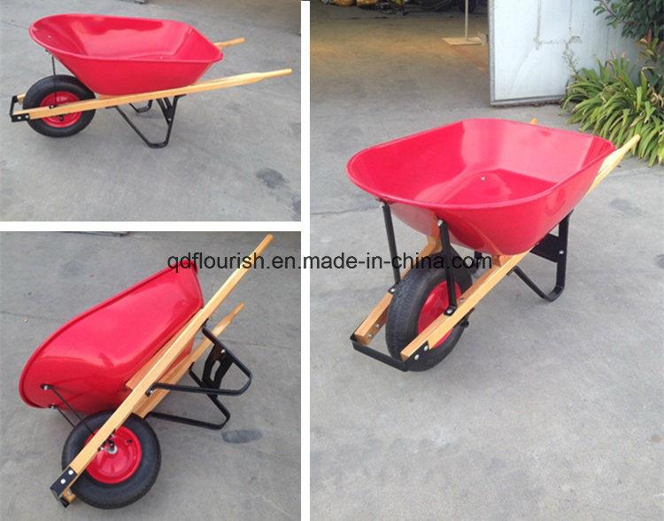Wooden Handle Wheelbarrow Wh5400 Wheel Barrow Trolley Cart