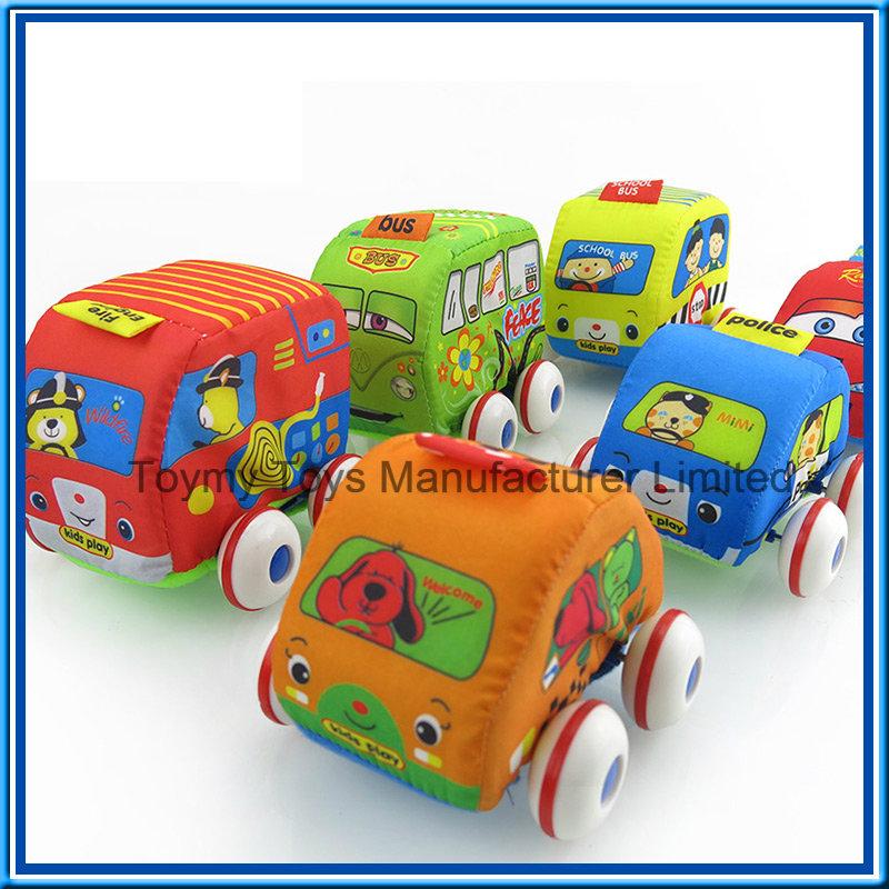 Newer Cartoon Lovable Kids' Pull Back Plastic Cars Toy