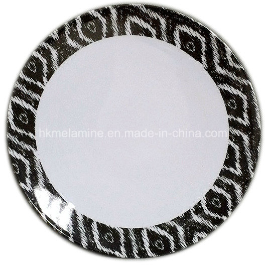 Round Melamine Dessert Plate with Logo (PT7265)