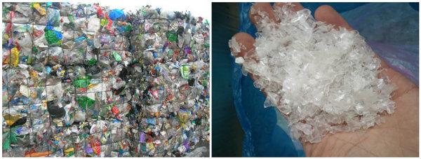Plastic Pet Bottle Scrap Flakes Recycling Crushing Washing Drying Machine Line