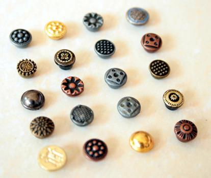 Printing Logo Jeans Buttons B284