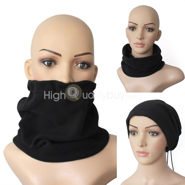 New Black and Yellow Stripy Neck Warmer Promotion Polar Fleece Beanie Hat Wholesale