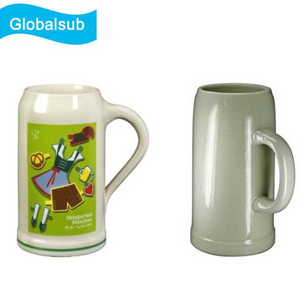 Ceramic Ok Sublimation Blank Beer Mug for Image Printing 300/500/1000ml