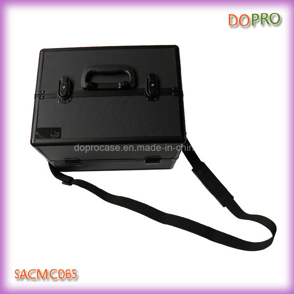 Black ABS Beauty Case Aluminum Frame Make up Suitcase for Cosmetics (SACMC065)
