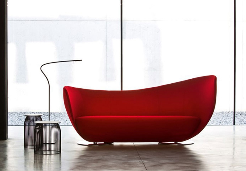 Peter Harvey New Design Fiberglass Genuine Leather Home Sofa