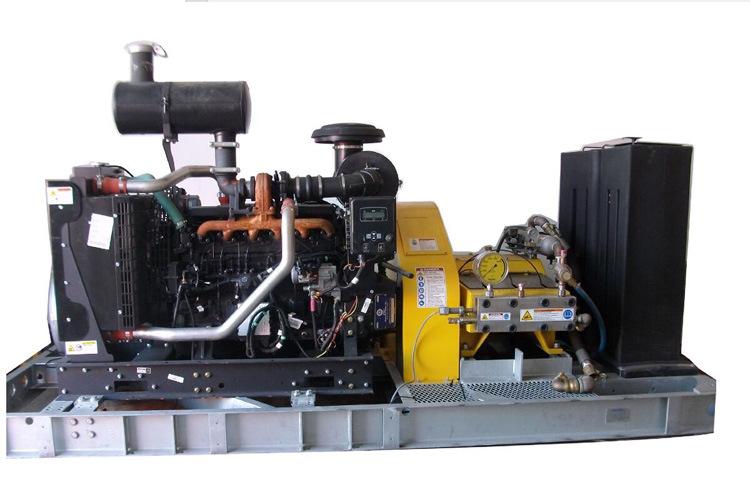 40000psi (2758bar) 174HP (130KW) Diesel Unit Super High Pressure Water Blasting Machine