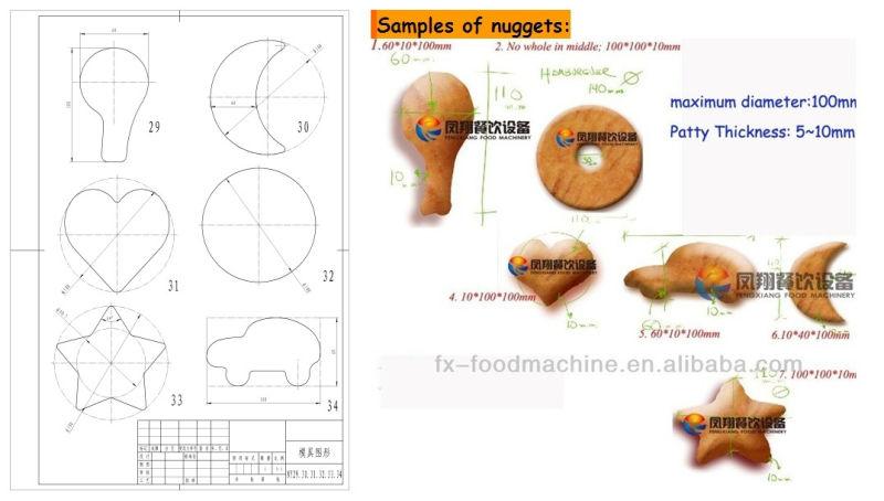 Automatic Hamburger Burger Patty Forming Making Processing Machine Fx-2000