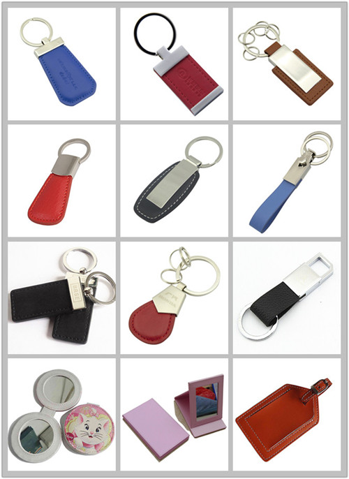 High Quality Promotional Volkswagen Leather Vw Car Keychain (F3050A)