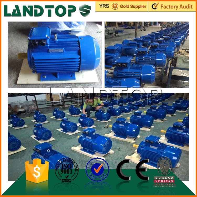 Landtop 380V 3kw 20 HP electric three phase motor