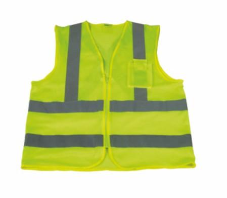 Hi-Viz Reflective Safety Vest with Cross Tape on Back