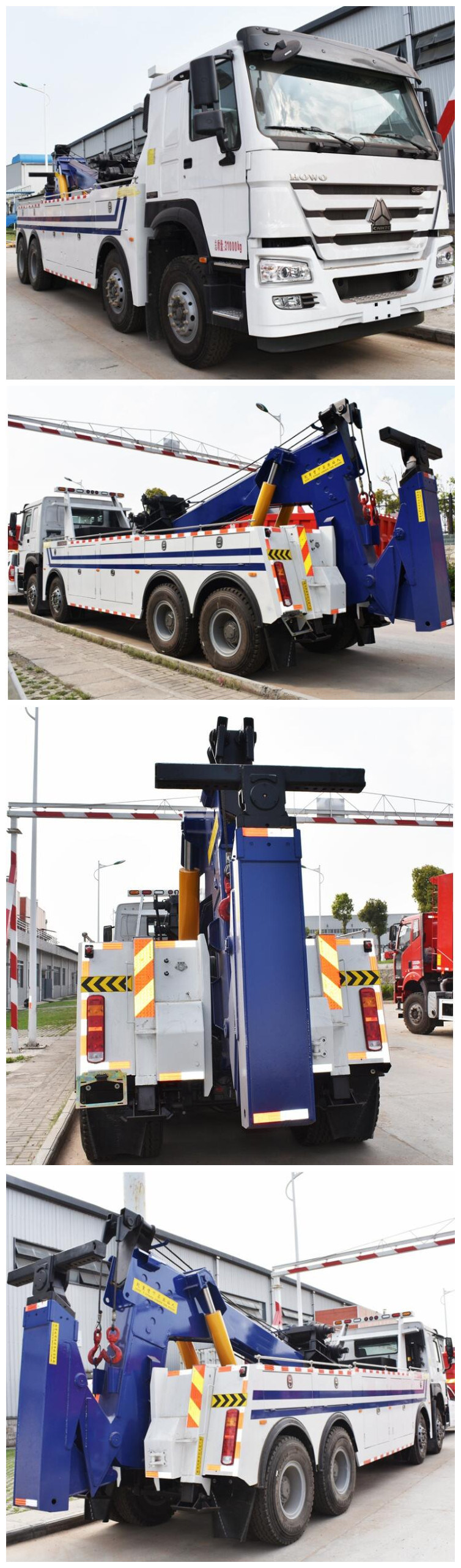 China Best Price 80tons Wrecker Tow Truck with Crane Towing Trucks