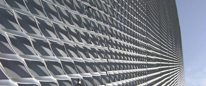 Galvanized / PVC Coated Walkway Mesh / Expaned Metal Sheet