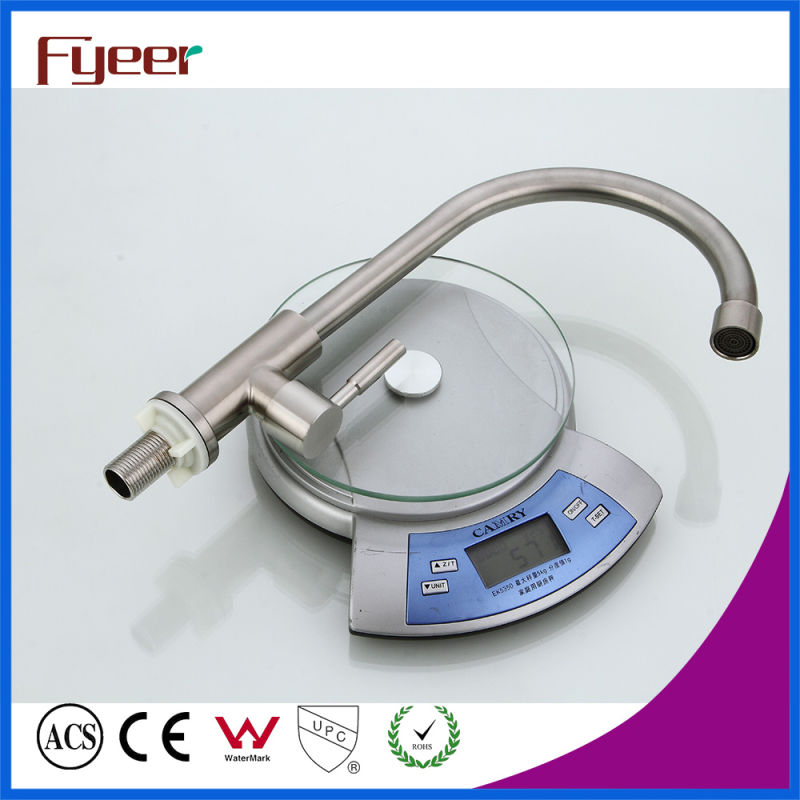 Fyeer Goose Neck Cold Type Stainless Steel Kitchen Sink Tap
