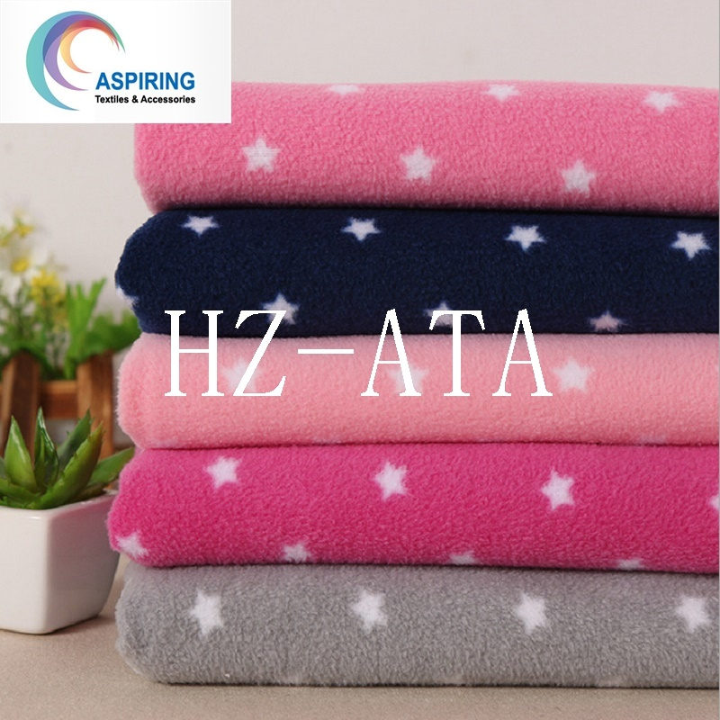 100% Polyester 280GSM FDY Polar Fleece Fabric