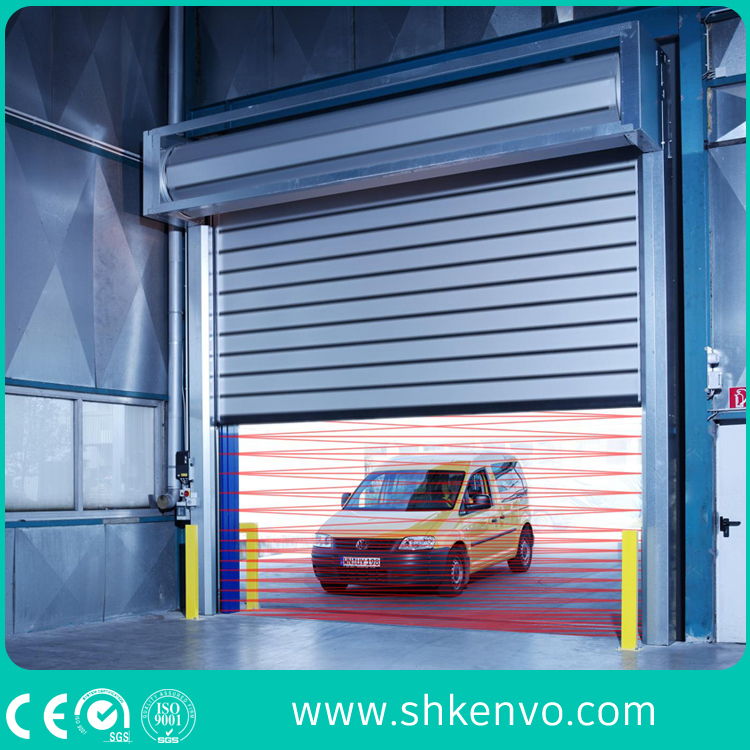 Thermal Insulated High Speed Rolling Shutter Door for Food Factory