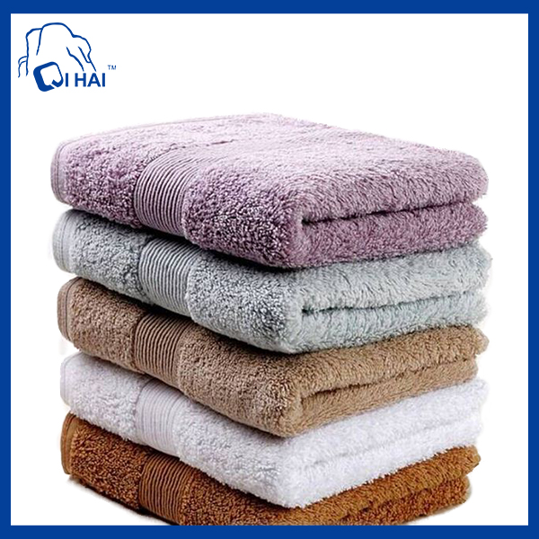 100% 32s/2 Cotton Yarn Luxurious Face Towel (QHD3312)