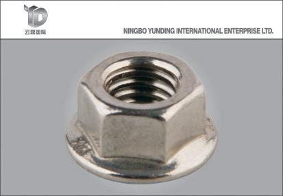 2016 Hot Sale Hexagonal Flange Lock Nut, Yellow Zinc Plated