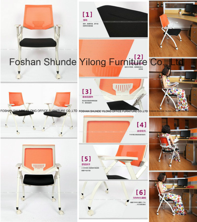 New Folding Metal School Student Chair with Writing Board for Sale