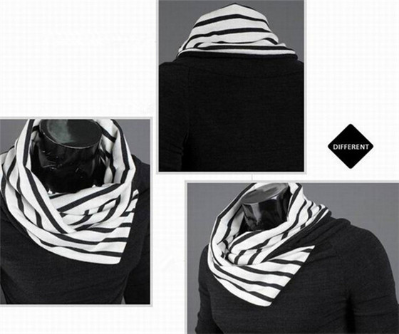 New Design Fashion Slim Fit Heaps Collar Casual Black Pullover Knitted Men's Sweater