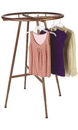 Boutique Cobblestone Round Clothing Rack Garment Rack for Display