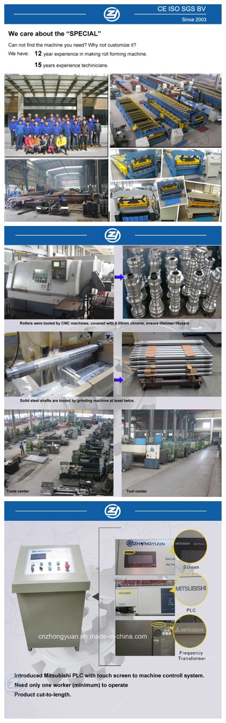 Roll Former Production Line Manufacturers Making Best Quality Automatic Metal Terrazzo Roof Glazed Tile Forming Machine for Sale Factory Price