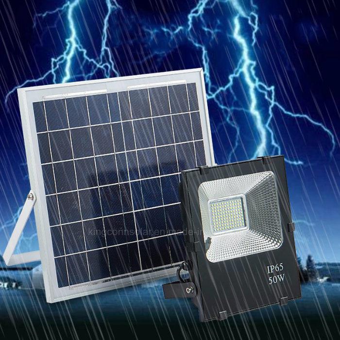 10W/20W/30W/50W/100W Solar Flood Lamp Outdoor LED Light for Garden Lawn Street Lighting
