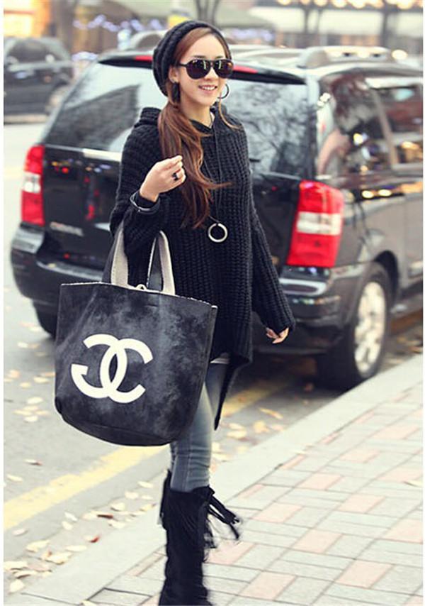 Lady Loose Casual Long Sleeve Irregular Jumper Sweater Plus Size