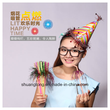 Party Decoration Birthday Firework Palm Straw
