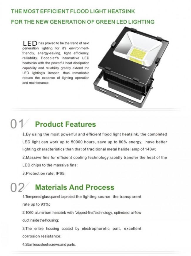 Hot Sell 70W LED Flood Light Waterproof IP65 LED Floodlight