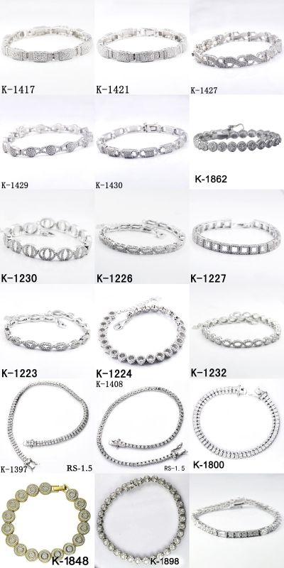 New Designs Bracelets 925 Silver Fashion Jewellery.