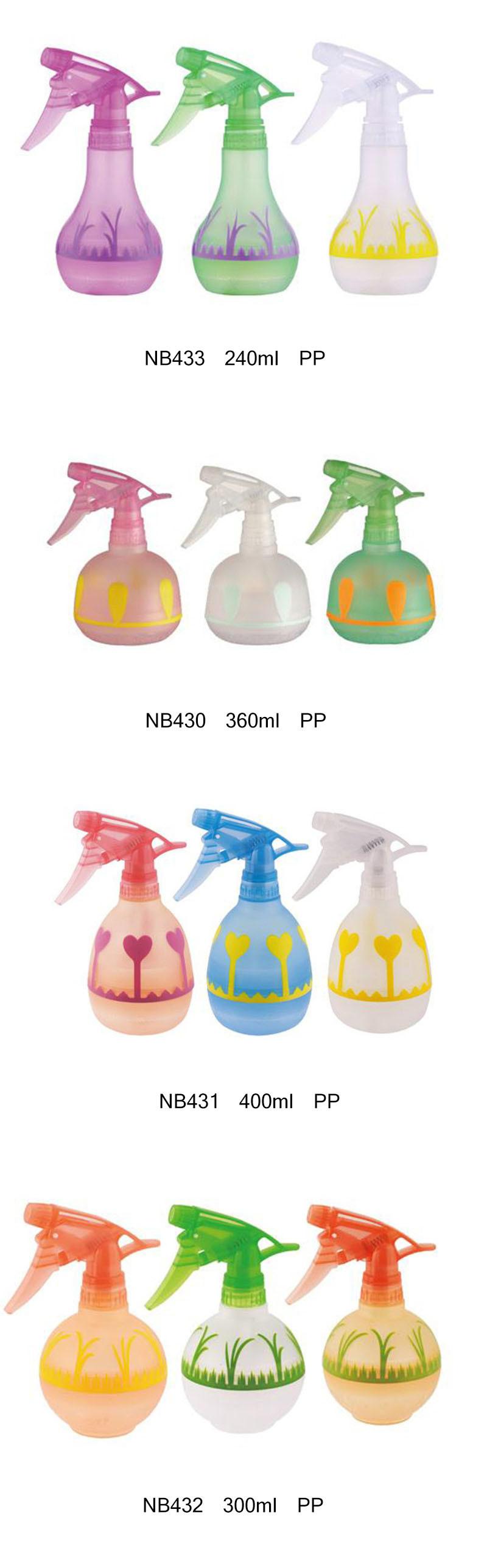 Plastic PP Trigger Sprayer Bottle for Cleaning 360ml (NB430)