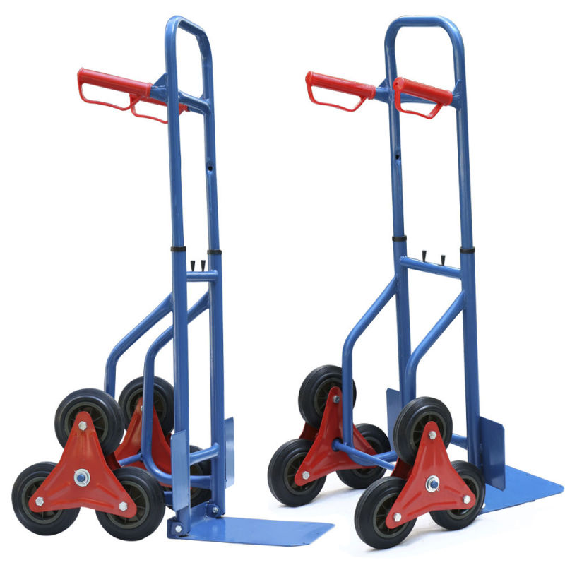 Folding Style Stair Climbing Six Wheel Hand Trolley