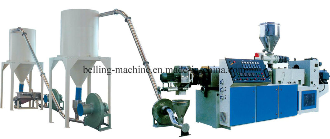 Hot Cutting/Die Face Cutting PVC Compound Extruder/Granulating Line