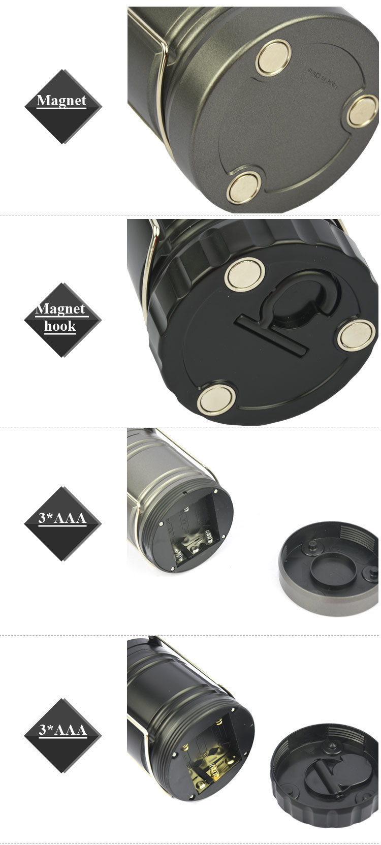 Most Powerful Daily Waterproof Camping Lantern LED Outdoor Lamp for Hiking