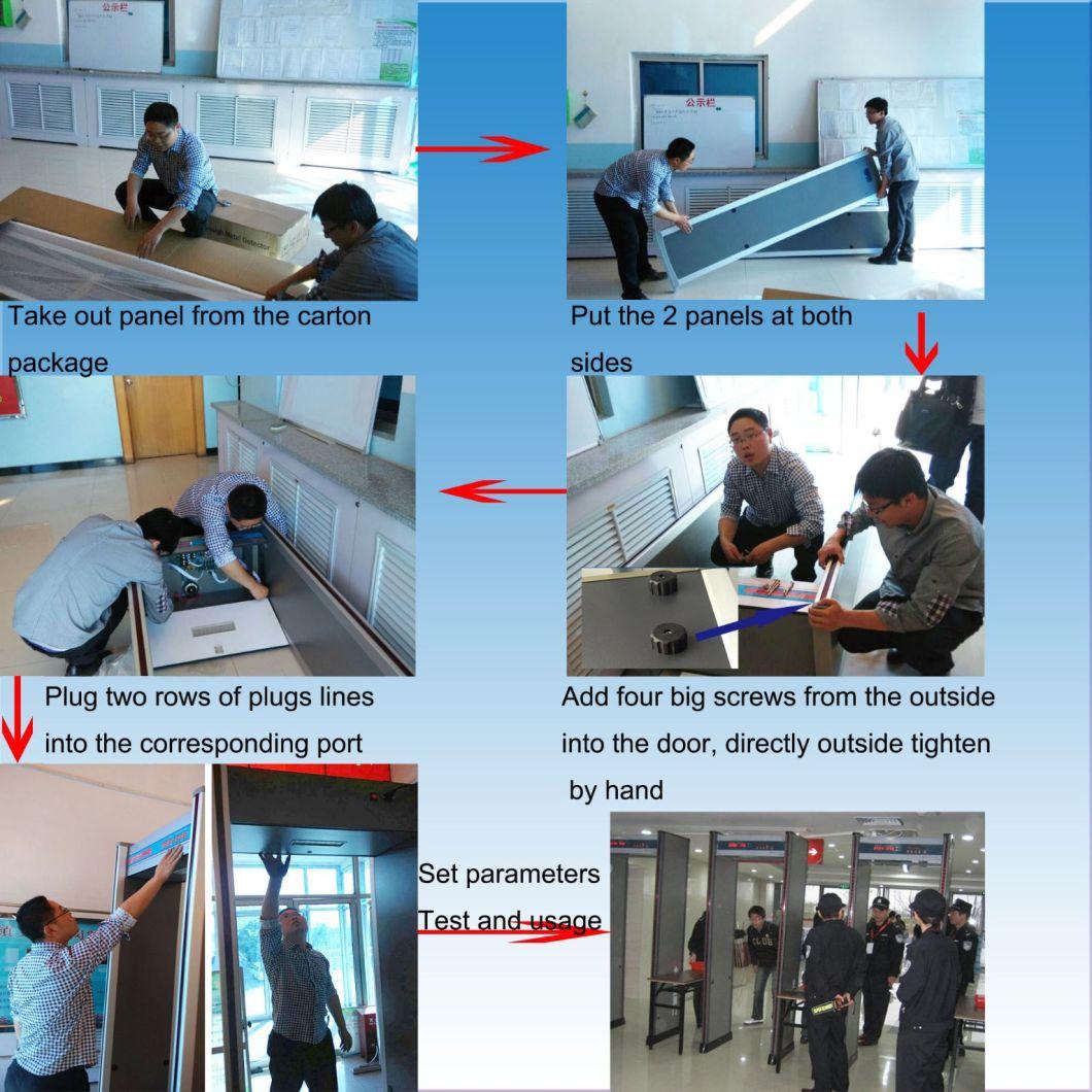Six Zones High Sensitivity Walk Through Metal Detector Alarm System