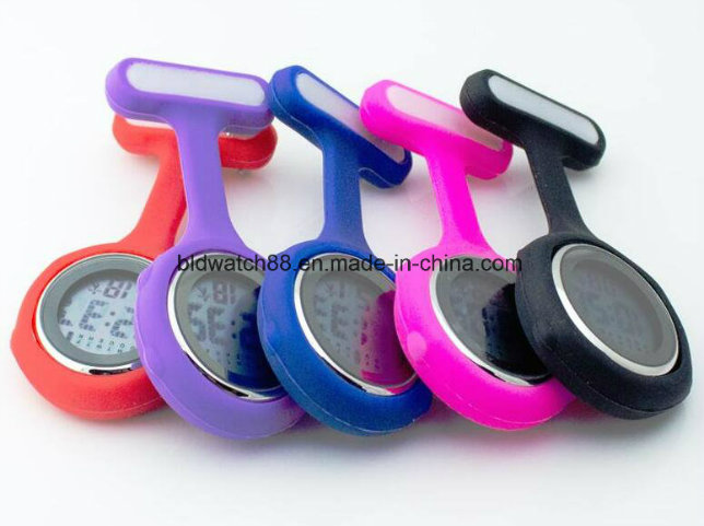 Waterproof Digital Nurses Brooch Pin Watches Fob