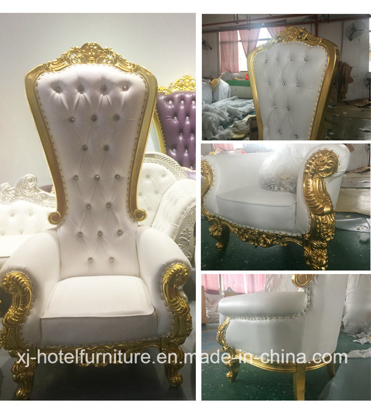 Queen Chair Love Seat Throne Longue for Wedding/Banquet/Restaurant/Hotel