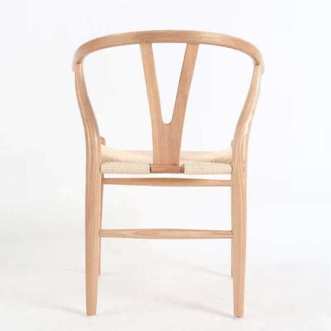 Nordic White Wax Wood Good Quality Dining Chair