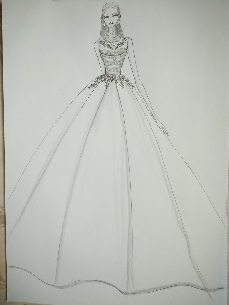 Elegant Lace Mermaid Satin Bridal Wedding Dress