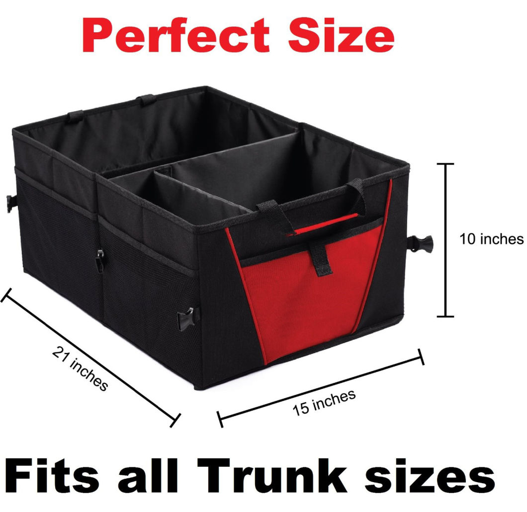 Heavy Duty Trunk Organizer - Premium Auto Cargo Organizer