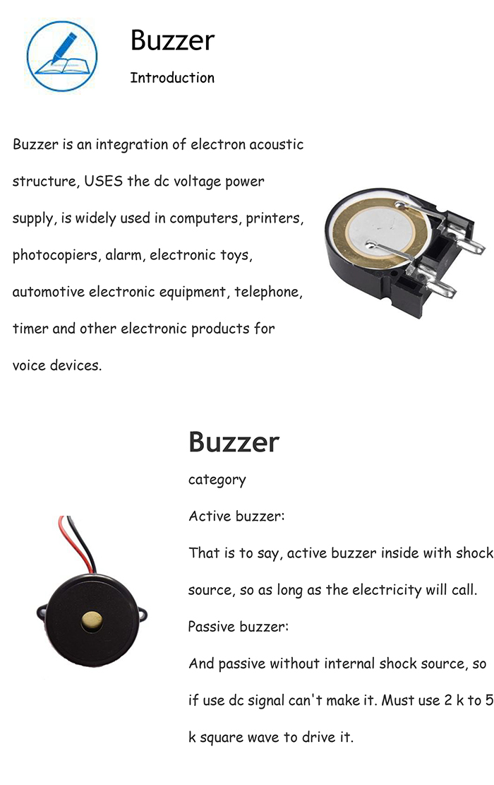 High Quality Passive 40kHz Piezo Buzzer with 120dB