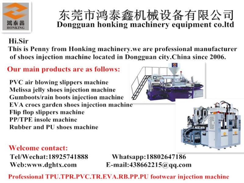 Honking Machinery 2 Station 2/4 Screw Tr/TPU Soles Machine