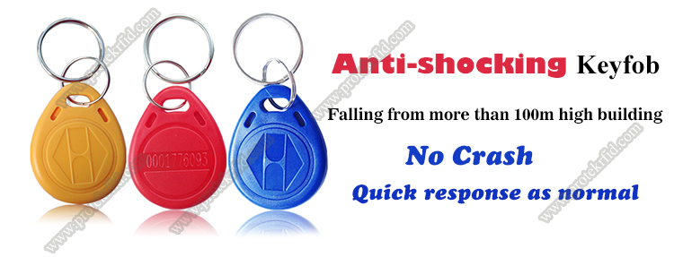 125kHz Tk4100 Chip Contactless ID Card Waterproof ABS Laser Number Anti-Shocking Plastic Keyfob