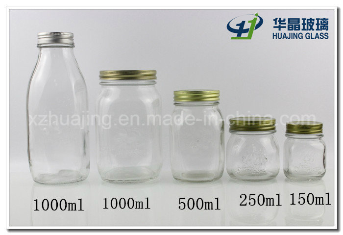 Different Size Glass Mason Jar with Tin Lid Wholesale