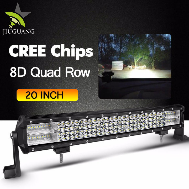 5D 20inch 126W Combo Flood Spot Work Light Curved CREE Offroad 4X4 LED Light Bar