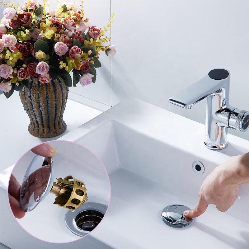Pop Up Polished Bathroom Basin Stopper