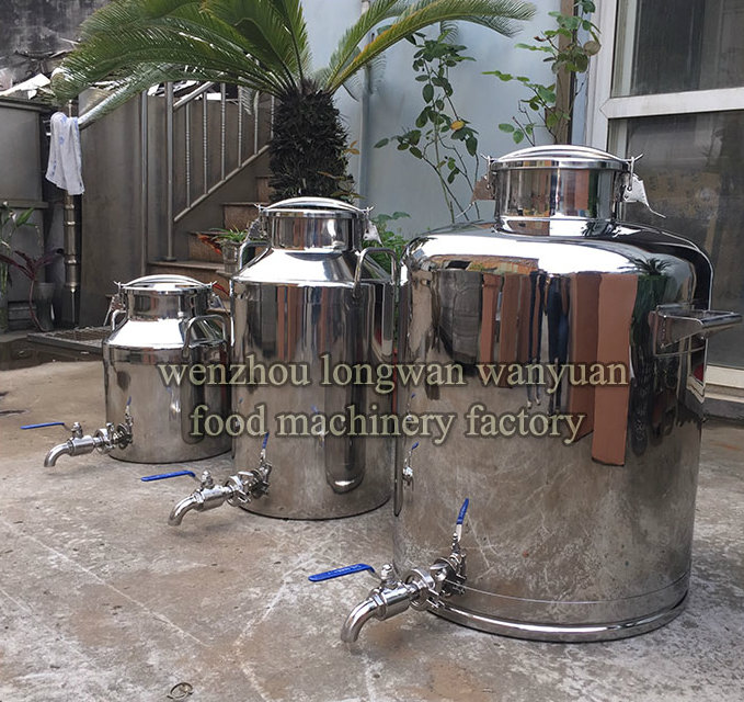 Stainless Steel Milk Churn 100 Liters Milk Pail with Tap